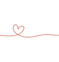 Heart shape mono line calligraphy element vector