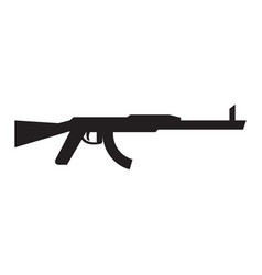 isolated machine gun icon vector image