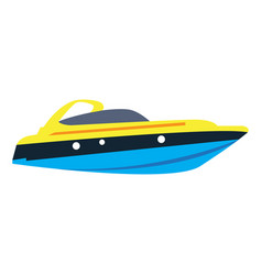 Isolated ship toy vector