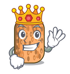 King fried tempeh on mascot plate vector