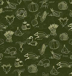 Kitchen seamless pattern with a variety of vector