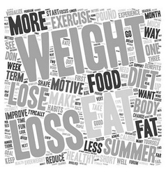 Lose Weight For The Summer text background vector