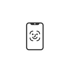mobile face id icon vector image