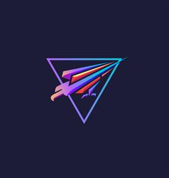 Modern futuristic falcon logo vector