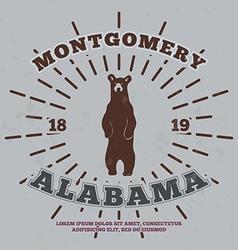 Montgomery Alabama t-shirt graphic vector