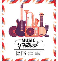 music festival celebration with professional vector image