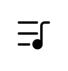 music playlist line icon linear style sign vector image