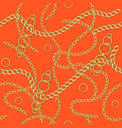 orange seamless pattern chain vector image