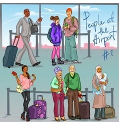 People at the Airport - part 1 vector
