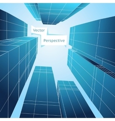 Perspective 3d building Abstract poster vector