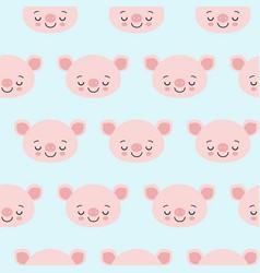 pig animal seamless pattern cute cartoon animals vector image