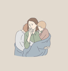poverty single mother troubles concept vector image
