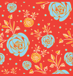 roses abstract-flowers in bloom seamless repeat vector image