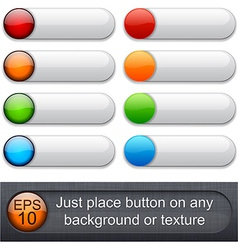 Rounded glossy buttons vector image