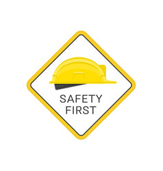 safety first helmet vector image