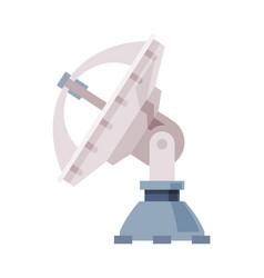 satellite dish broadcast communication equipment vector image
