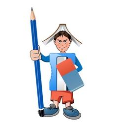 school warrior vector image