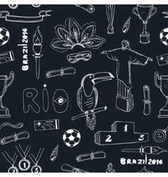 Seamless pattern Olympic games in Brazil vector