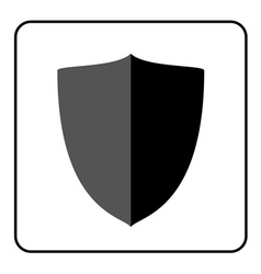 Shield icon gray and black 2 vector image