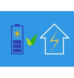 Solar battery as eco source of energy vector image
