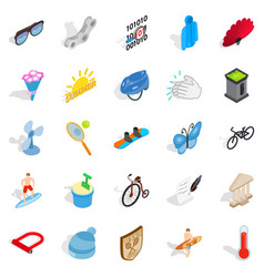 sport for relaxation icons set isometric style vector image