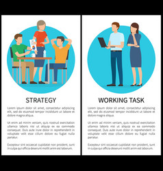 strategy and working task vector image