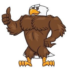 Strong eagle thumb up gesture 2 vector image