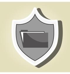 Symbol folder file archive vector