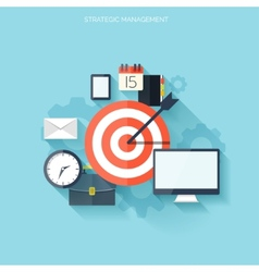 Target flat icon Development concept New ideas vector