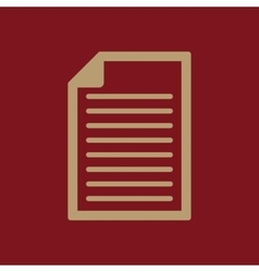 The document icon Notes symbol Flat vector