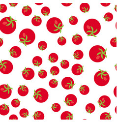 The seamless pattern vegetable set red tomatoes vector