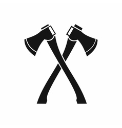 Two crossed axes icon simple style vector image