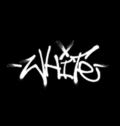 white lettering in form a graffiti tag vector image
