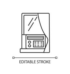 Window air conditioner linear icon vector