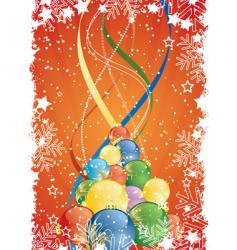 winter ribbons vector image