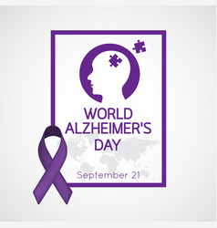 World alzheimers day icon vector