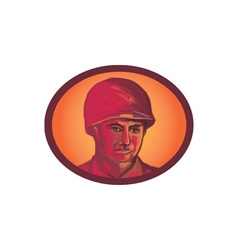 World War Two American Soldier Head Watercolor vector image