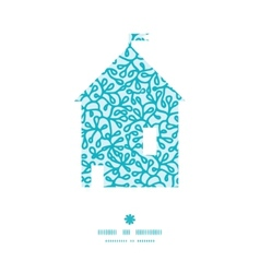 abstract underwater plants house silhouette vector image vector image