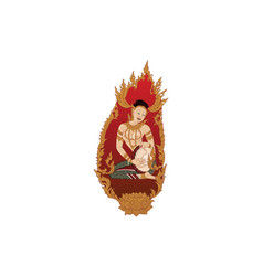 bhudthaisawan20-1thai traditional painting tattoo vector image vector image