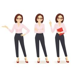 Elegant business woman vector image vector image