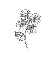 flower decoration design sketch vector image vector image