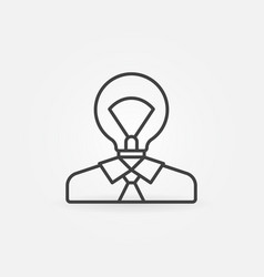 man with light bulb head icon vector image