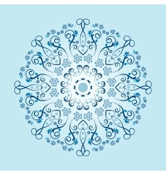 Mandala with floral elements vector image vector image