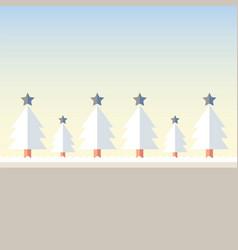 christmas tree snow vector image