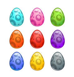 colorful cartoon eggs set vector image