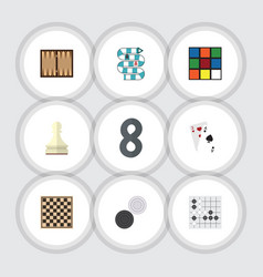 flat icon entertainment set of multiplayer cube vector image vector image