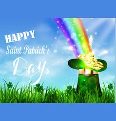 st patrick s day symbol green pot vector image vector image