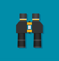 binoculars flat icon on background vector image