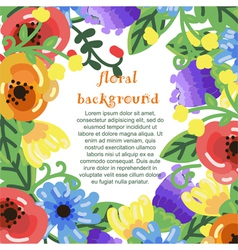 bright flowers frame vector image vector image