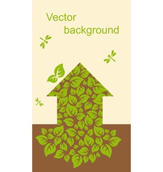 Ecological house vector image vector image